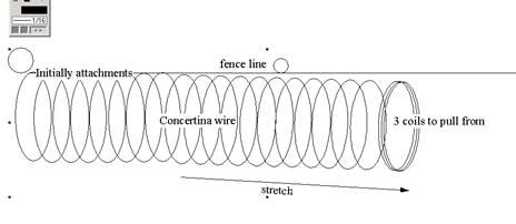 Concertina Razor Wire Illustration